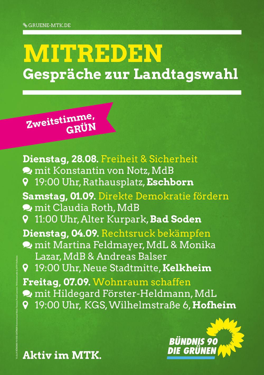 Mitreden: Gespräche zur Landtagswahl