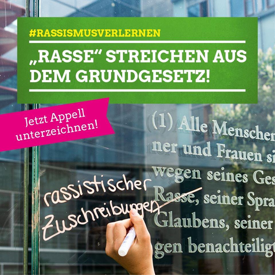 """""""Rasse"""" aus dem Grundgesetz streichen!"""