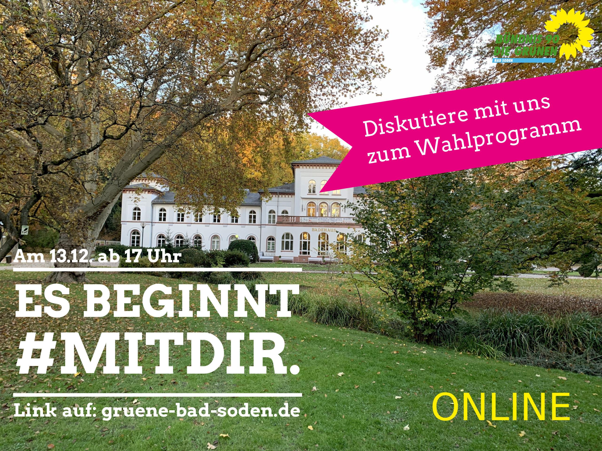 Unser neues Wahlprogramm für Bad Soden – zur Diskussion!